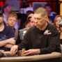 Huck Seed plays his first finals match while Phil Hellmuth and John Hennigan look on