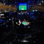 Large crowd of fans watch heads-up play