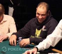 Chip leader Roland de Wolfe