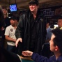 Phil Hellmuth busting out of the Main Event