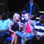 Amanda Leatherman interviews Daniel Negreanu on the rail