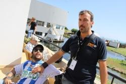 Juan, con un jugador italiano, Fabricio Ascari, que no ha parado de gritar durante todo el torneo (sigue vivo)