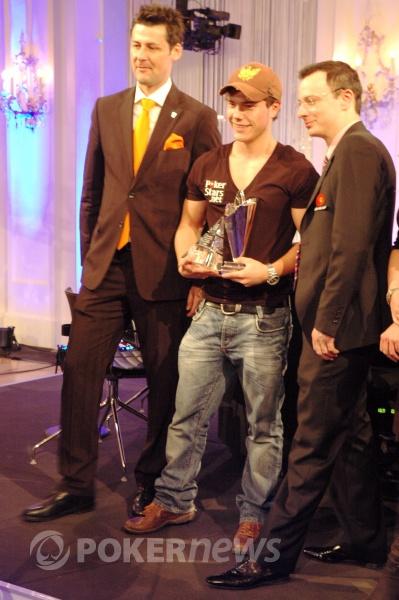 Michael Eiler Receiving His Trophy