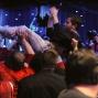 Jonathan Duhamel gets a lift from friends