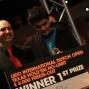 De winnaar Marcel Bjerkmann