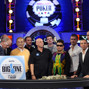 Poker players and participants in The Big One for One Drop press conference.