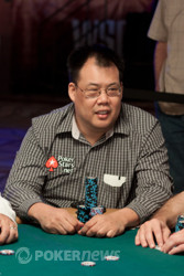 Bill Chen is 5th in chips.
