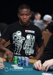 Martins Adeniya's stack has been up and down all day.