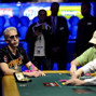 Bertrand Grospellier shows some frustration after losing a big pot.