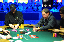Phil Hellmuth and Ted Forrest