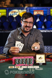 Matt Matros is the event 52 bracelet winner