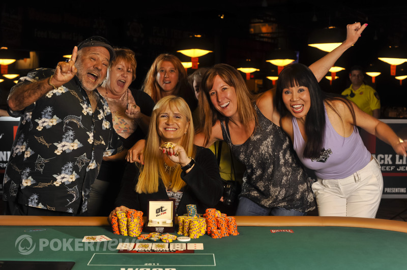 Marsha Wolak is the 2011 WSOP Ladies event bracelet winner