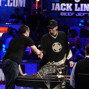Brian Rast, Phil Hellmuth shake before heads-up play