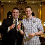 Tristan Wade and tournament director Jack Effel inside the lobby of the WSOPE. Tristan just won his first WSOP bracelet