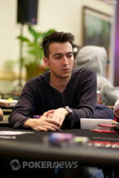 Day 1b chip leader, Antonio Martins