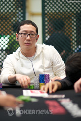 Day 1c chip leader, Sang Yong Lee