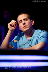 "Seat 7: Clayton ""slammedfire"" Mozdzen, 28, from Winnipeg, Canada – PokerStars qualifier – 1,430,000"