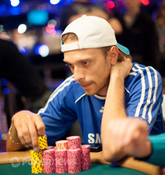 Donald Michael - once the chip leader, now out in 13th place.