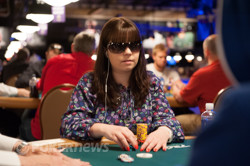 Annette Obrestad hunting for her first bracelet since 2007.