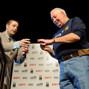 Jack Effel presenting the bracelet to Herbert Tapscott