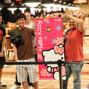 Jason Mo's rail with Hello Kitty cheering as well !