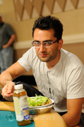 Antonio Esfandiari was massaged while his opponent tanked.