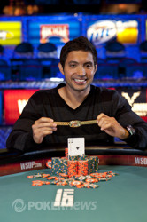 Bracelet winner Timothy Adams
