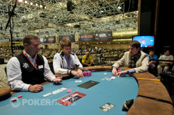 Oleksii Kovalchuk and George Danzer battle for the Event 42 bracelet