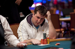 Chip leader Thomas Conway
