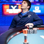 Rocco Palumbo casts his eyes upward as he catches his breathe after winning a WSOP Gold Bracelet