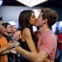 Will Jaffe gets a congratulatory kiss from his girlfriend, Abbie Houck
