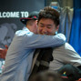 Bryan Huang hugged by Jordan Westmorland