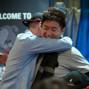 Bryan Huang hugged by Jordan Westmorland