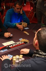 Freddy Darakjian during his final hand.