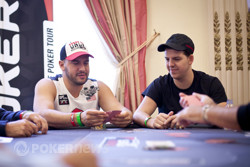 Michael Mizrachi and Noah Schwartz from earlier in the day