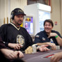 Phil Hellmuth and David Benyamine in some table chatter