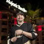 Phil Hellmuth out side the Majestic Barriere