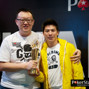 Champion Xing Zhou and runner-up Ying Kit Chan