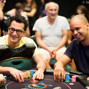 Antonio Esfandiari and Phil Ivey with Esfandiari's father in the background