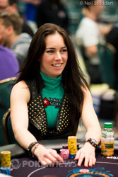 Liv Boeree earlier on Day 2