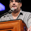 Mike Matusow addresses the crowd during the bracelet ceremony