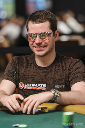 Jonathan Little smiling during Event #21 $3,000 No-Limit Hold'em (Six-Handed) where he finished 23rd