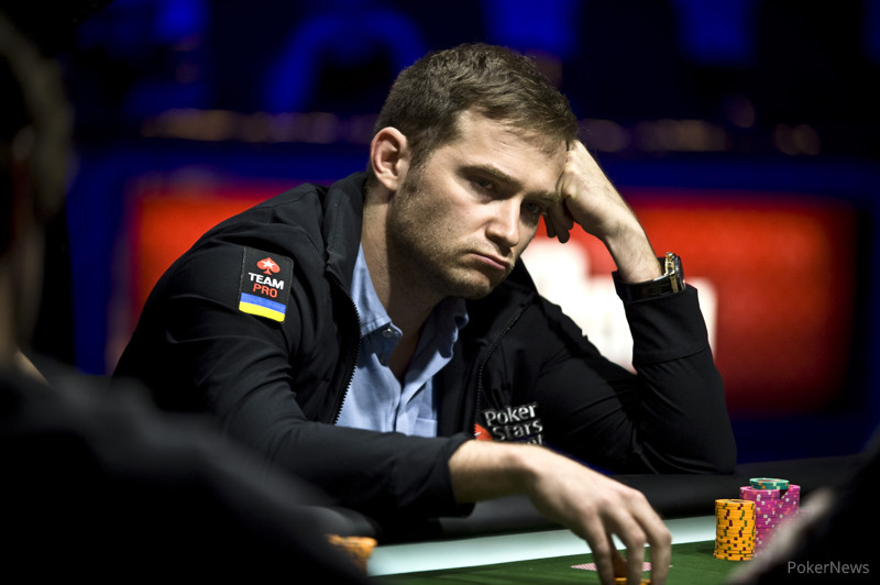 Eugene Katchalov during the 2013 $5,000 Pot Limit Hold'em final table at the World Series of Poker