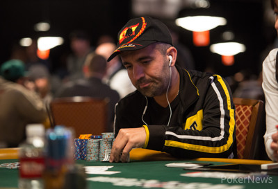 Raul Paez, shown here in a Razz tournament earlier this summer, tried to help translate.