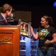 Dana Castaneda receives her framed photo