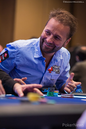 Negreanu Showing the Ace of Hearts