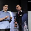Jack Effel presents the gold bracelet to Steven Wolansky