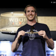 Michael Drummond with his gold bracelet from Event 42