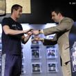 Jack Effel presents the gold bracelet to Michael Drummond