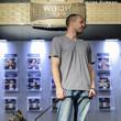 Jesse McEuen at his bracelet ceremony for Event #47: $1,500 Ante-Only No-Limit Hold'em